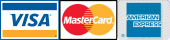 We accept Visa, Mastercard & American Express
